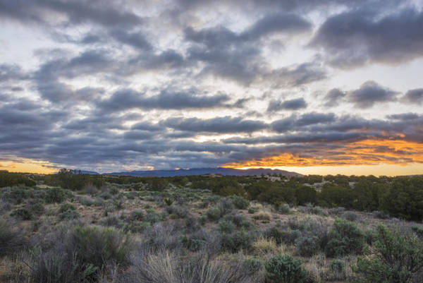 Land Of Enchantment Photograph - Stormy Santa Fe Mountains Sunrise - Santa Fe New Mexico by Brian Harig