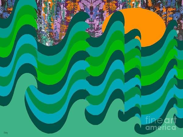 Tsunami Painting - Stormy Sea by Patrick J Murphy