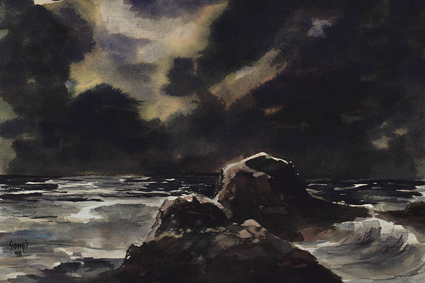 Painting - Stormy Sea by Sam Sidders
