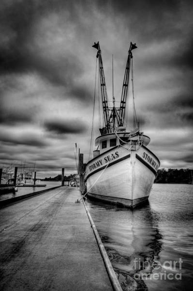 Shrimp Boat Wall Art - Photograph - Stormy Seas by Matthew Trudeau