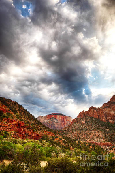 Wall Art - Photograph - Stormy Skies In Zion Hdr by Jane Rix