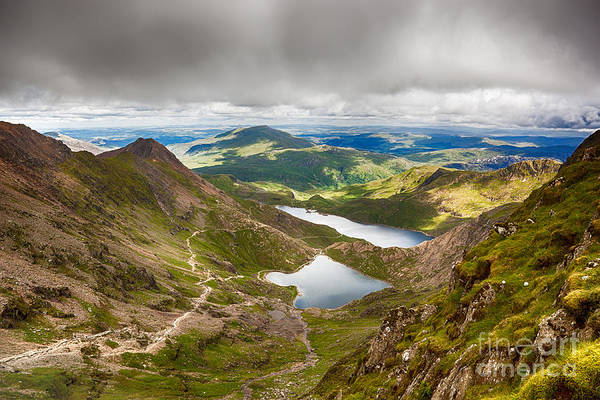 Moor Photograph - Stormy Skies Over Snowdonia by Jane Rix