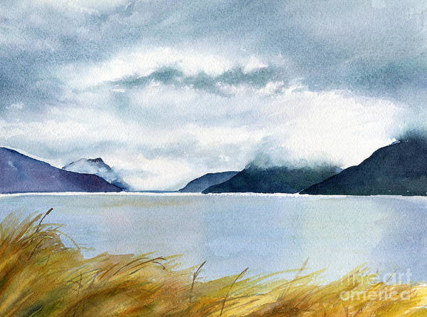 Stormy Sky Painting - Stormy Sky Over Turnagain Arm by Sharon Freeman