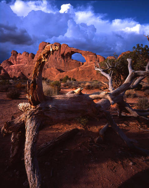 Photograph - Stormy Skyline Arch Sky by Ray Mathis