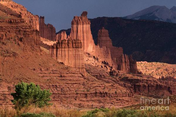 Fisher Towers Photograph - Stormy Sunset by Adam Jewell