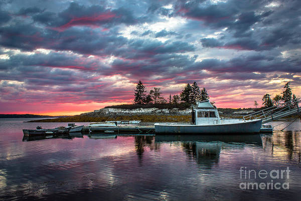 Lobstering Photograph - Stormy Sunset At Lookout Point by Benjamin Williamson