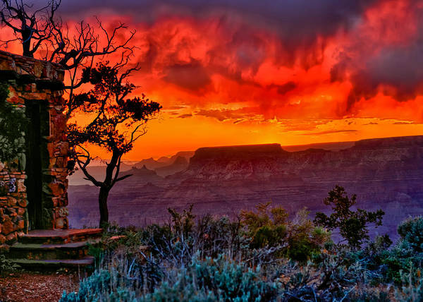 Photograph - Stormy Sunset Greeting Card by Greg Norrell