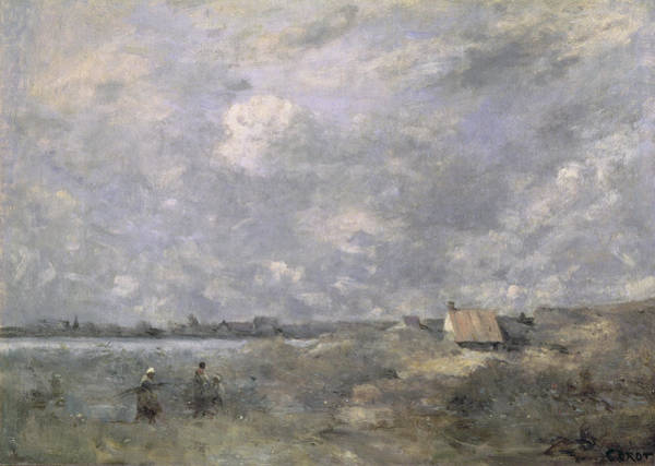 Wall Art - Painting - Stormy Weather, Pas De Calais by Jean Baptiste Camille Corot