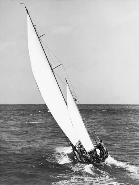 Watersports Photograph - stormy Weather by Underwood Archives