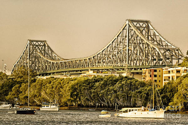 Story Bridge - Icon Of Brisbane Australia Art Print