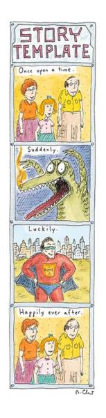 1998 Drawing - Story Template by Roz Chast