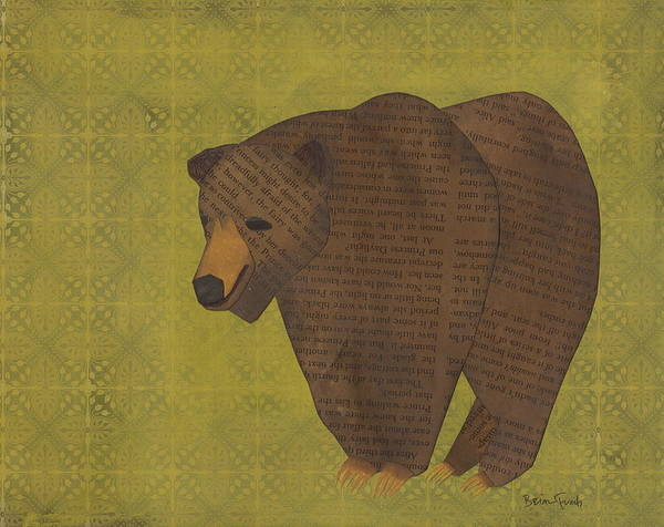 Grizzlies Mixed Media - Storybook Bear by Brian Fuchs