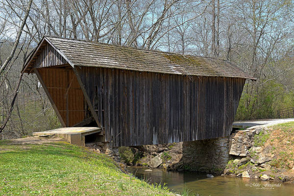 Photograph - Stoval Mill Covered Bridge by Mike Fitzgerald