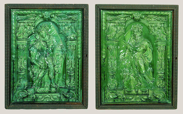 Tile Drawing - Stove Tile Depicting Alexander The Great,  Stove Tile by Litz Collection