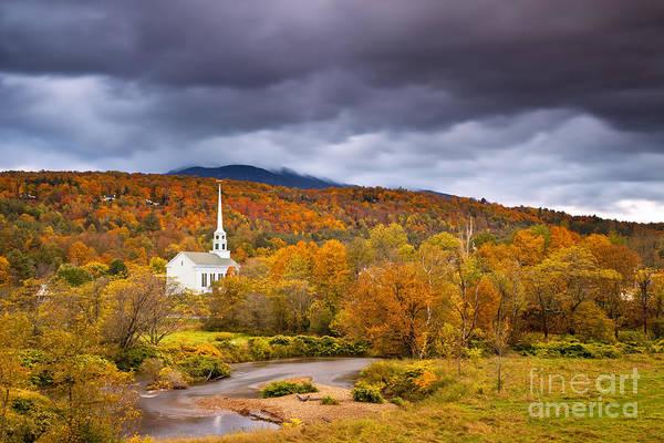 Wall Art - Photograph - Stowe Church In Autumn by Brian Jannsen