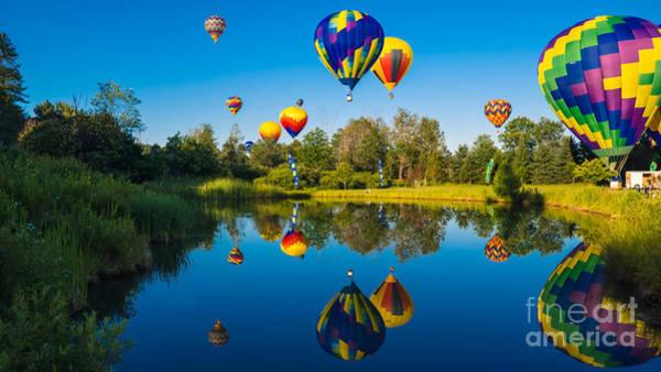 Stoweflake Hot Air Balloon Festival Art Print