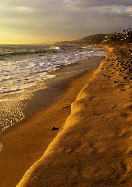 Photograph - Strand Beach Dana Point At Sunset by Cliff Wassmann
