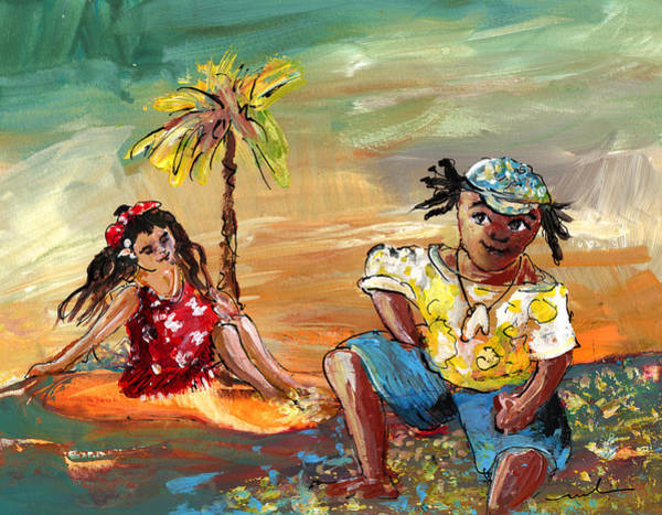 Painting - Stranded In Tahiti by Miki De Goodaboom