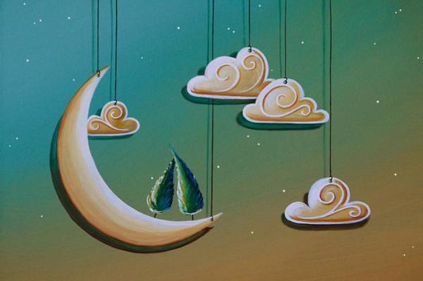 Wall Art - Painting - Stranded In The Evening Sky by Cindy Thornton
