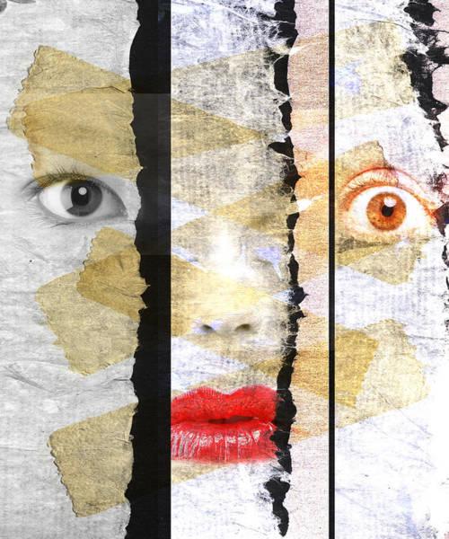 Wall Art - Digital Art - Strange Faces by David Ridley