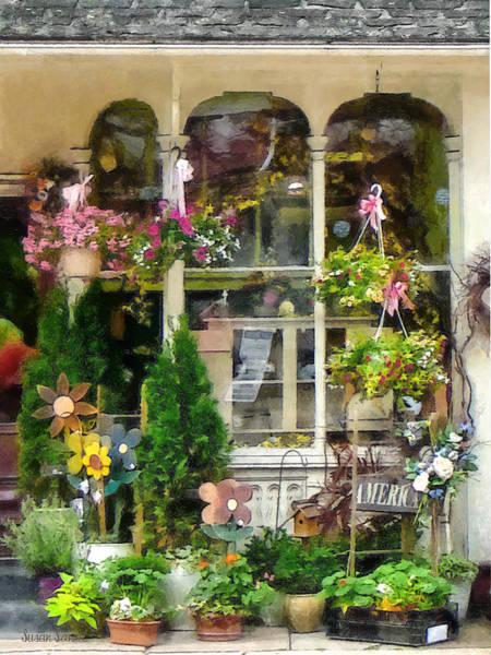 Photograph - Strasburg Flower Shop by Susan Savad