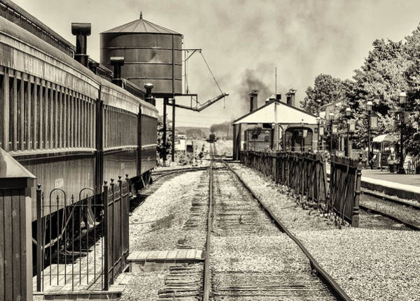 Lancaster County Photograph - Strasburg Railroad In Sepia - Lancaster County by Bill Cannon