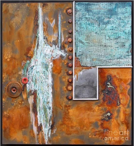 Oxidation Painting - Stratospheare by Gertrude Scheffler