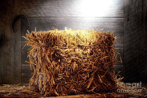 Photograph - Straw Bale In Old Barn by Olivier Le Queinec