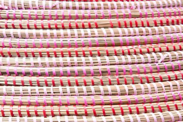 Wicker Chair Photograph - Straw Fibre Background by Tom Gowanlock