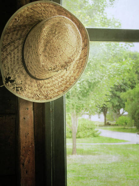Straw Hat Photograph - Straw Hat Close To Window by Francois Dion
