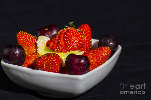 Photograph - Strawberries And Cream by Brian Roscorla