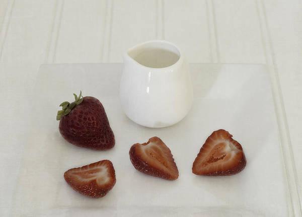 Photograph - Strawberries And Cream by Kim Hojnacki