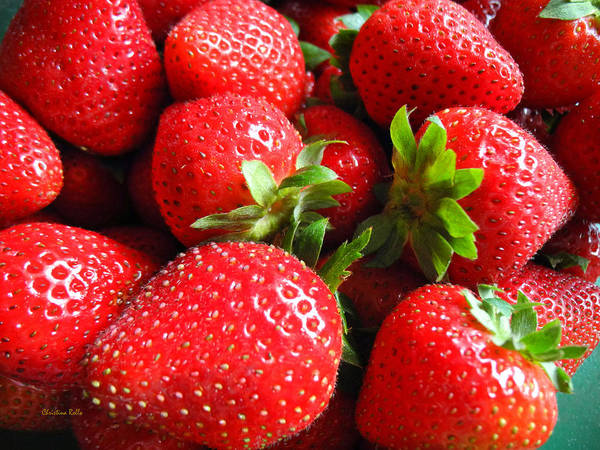 Photograph - Strawberries by Christina Rollo