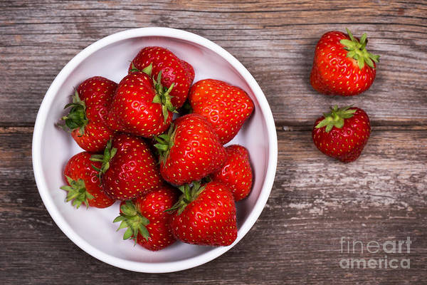 Picnic Tables Photograph - Strawberries by Jane Rix