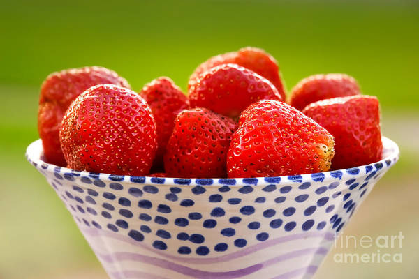 Photograph - Strawberries by Lutz Baar