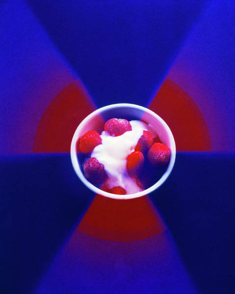 Radiation Wall Art - Photograph - Strawberries Used To Demonstrate Food Irradiation by Martin Bond/science Photo Library