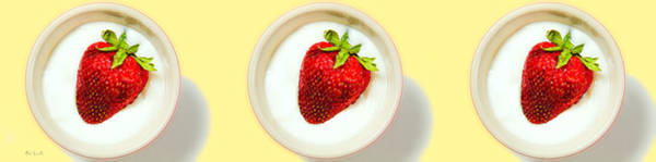 Avant Garde Photograph - Strawberry And Cream by Bob Orsillo