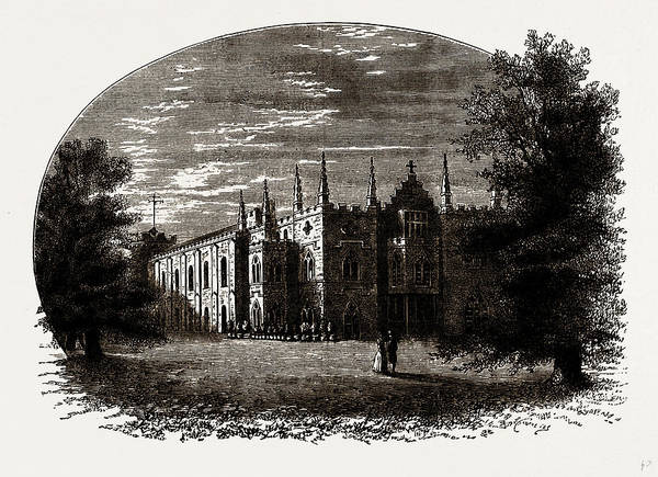 Strawberry Hills Wall Art - Drawing - Strawberry Hill In Walpoles Time by Litz Collection