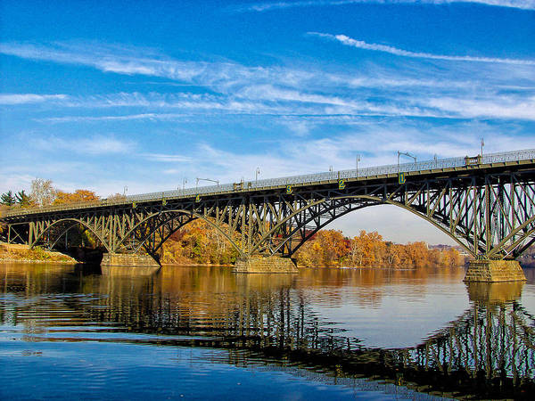 Photograph - Strawberry Mansion Bridge by Louis Dallara