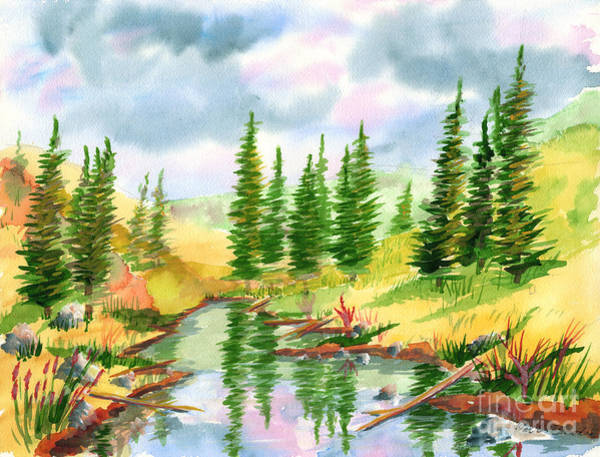 Painting - Strawberry Reservoir 2 by Walt Brodis