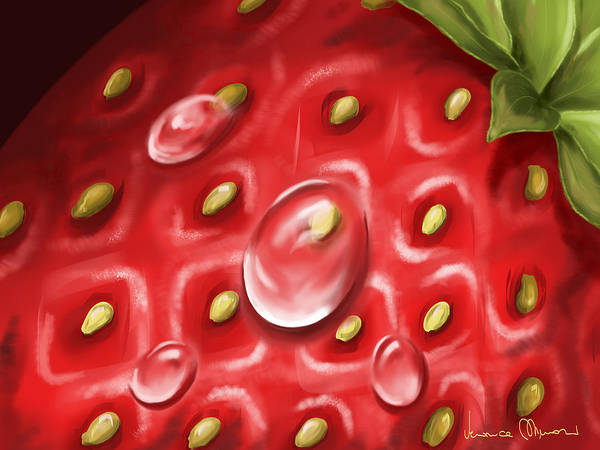 Strawberry Painting - Strawberry by Veronica Minozzi