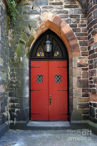 Photograph - Strawbridge Church Red Door by Walter Neal
