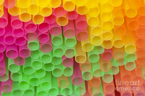 Soda Straws Photograph - Straws by Michal Boubin