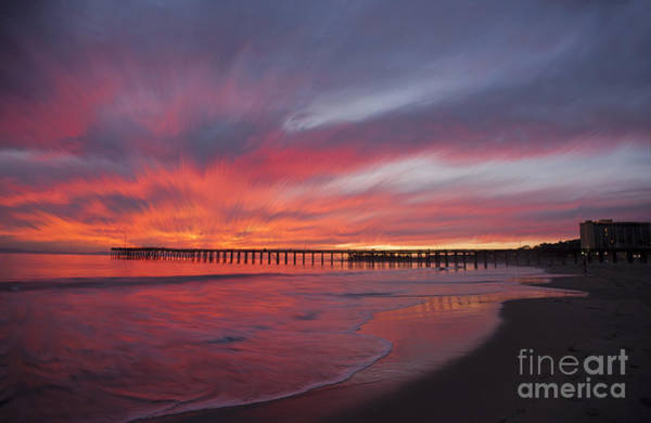 Photograph - Streaking Sunset At Ventura Pier by Dan Friend