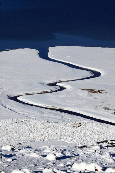 Photograph - Stream And Lake Shore In Winter by James Brunker