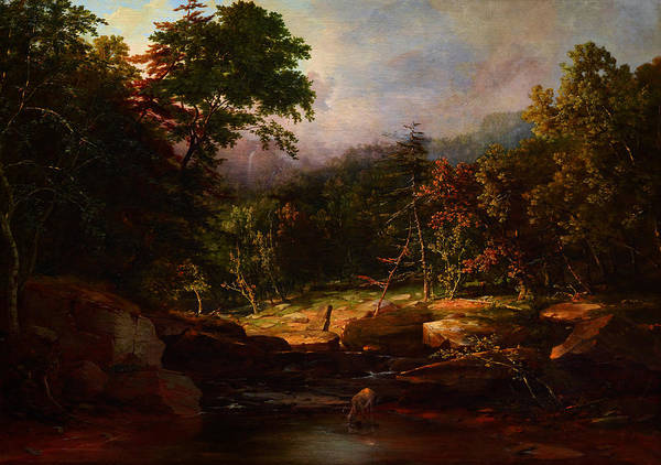 Painting - Stream In The Mountains by Celestial Images