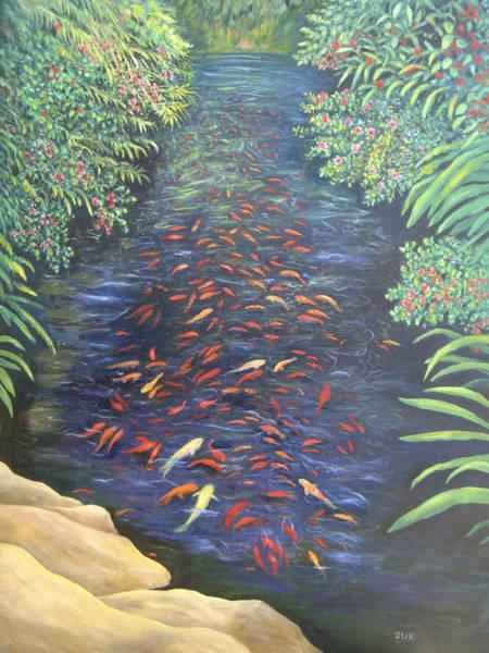Painting - Stream Of Koi by Karen Zuk Rosenblatt