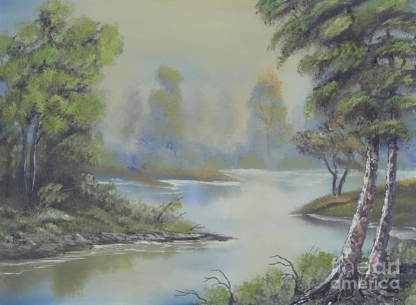 Stream Through The Woods Art Print