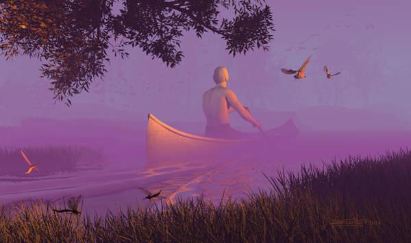Digital Art - Streamglider by Dieter Carlton