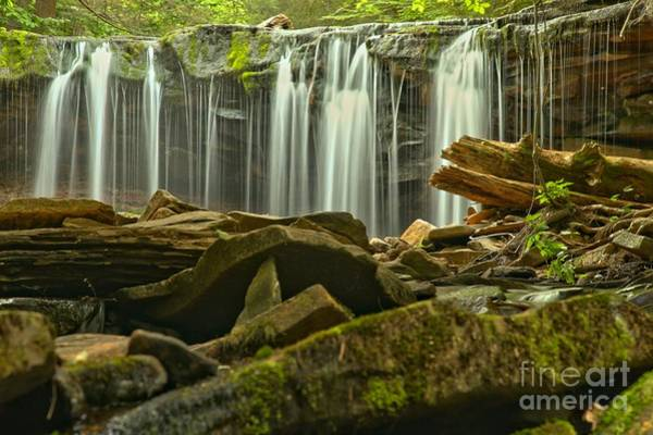Photograph - Streaming Toward The Rocks by Adam Jewell